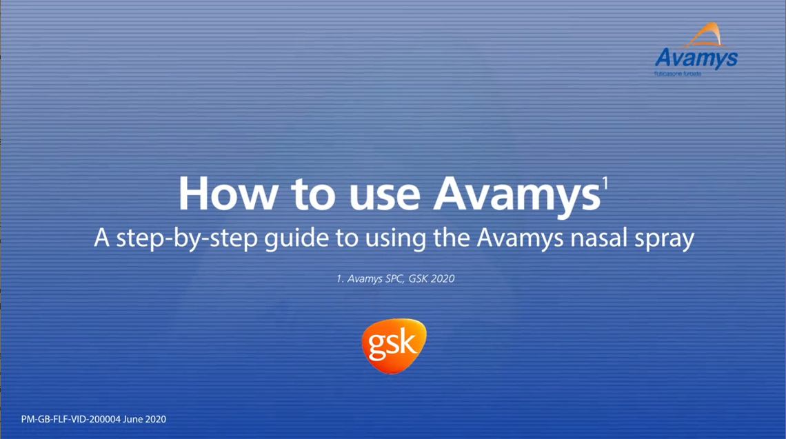 How to use Avamys device video