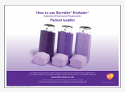 How to use Seretide Evohaler patient leaflet pad