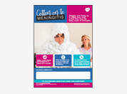 Meningitis disease awareness poster
