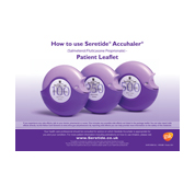 Seretide Accuhaler how to use patient leaflet pad