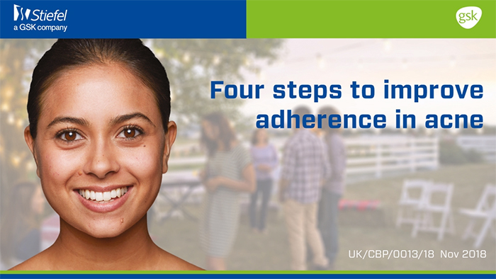 Four steps to improve adherence in acne