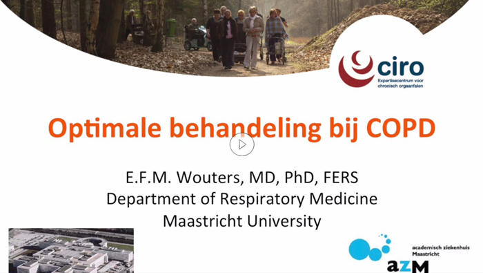 Optimale behandeling COPD video