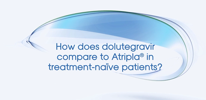 How does a dolutegravir regimen compare to Atripla® in treatment-naive patients?