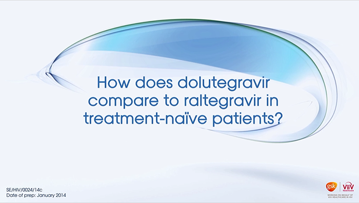 How does dolutegravir compare to raltegravir in treatment-naïve patients?